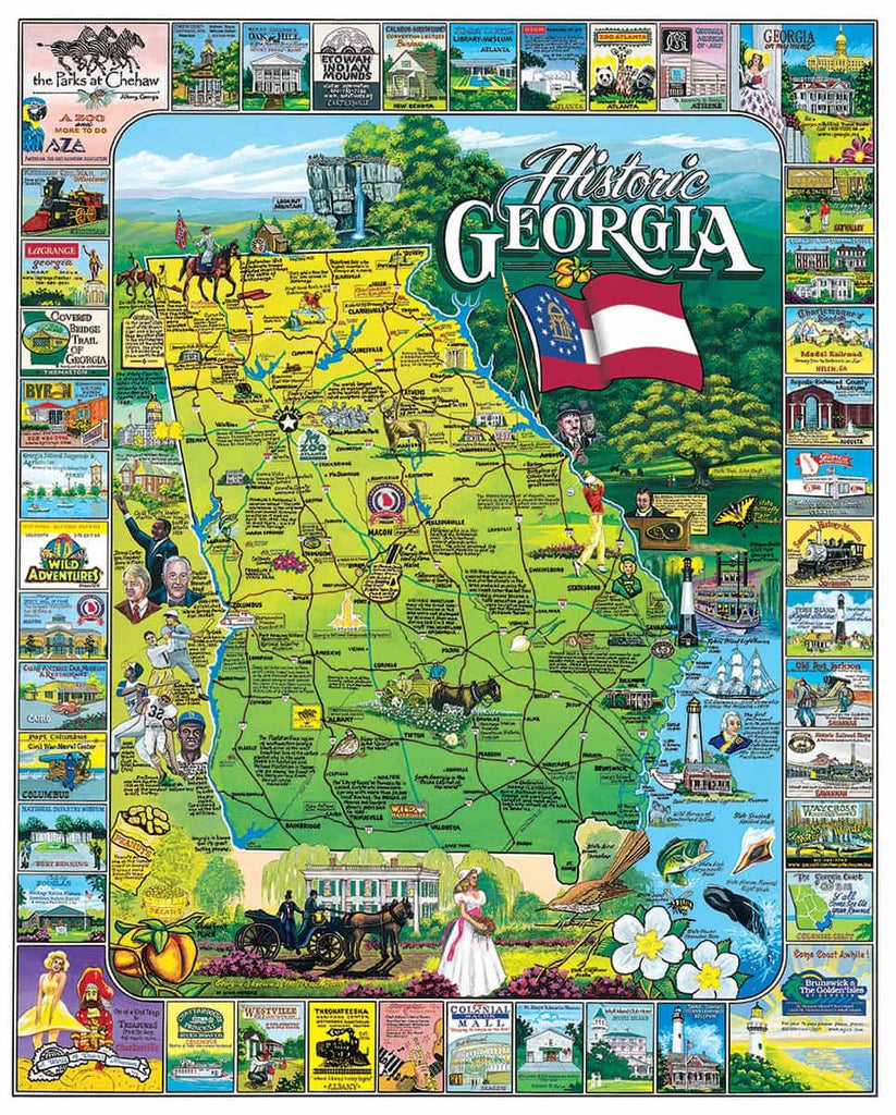 Historic Georgia - 1000 Pieces