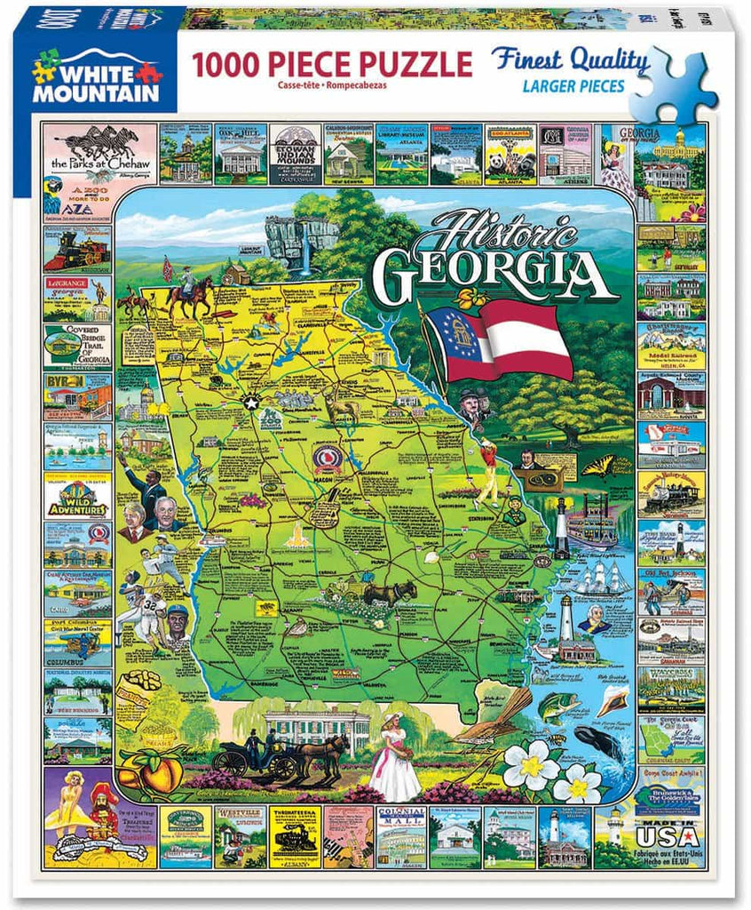 Historic Georgia (151PZ) - 1000 Piece Jigsaw Puzzle