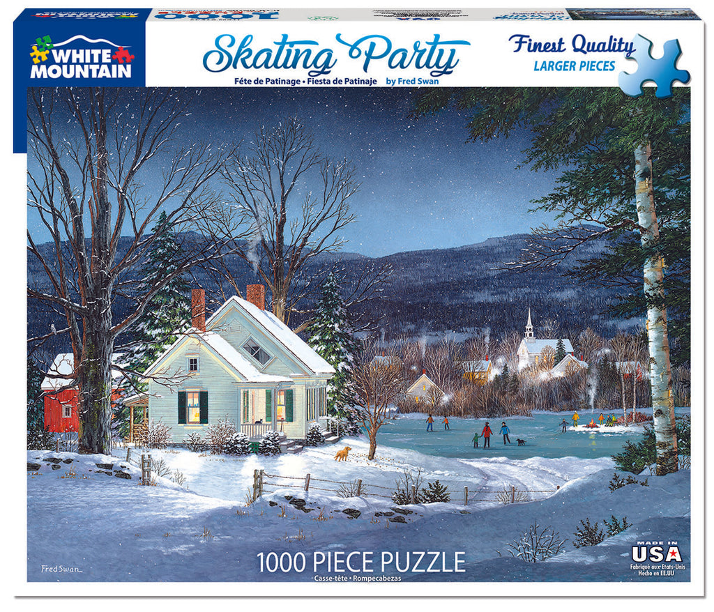 Skating Party (1523PZ) - 1000 Piece Jigsaw Puzzle