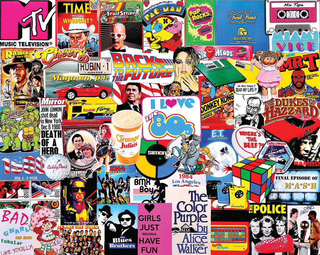 I Love the 1980's (1525pz) - 1000 Piece Jigsaw Puzzle