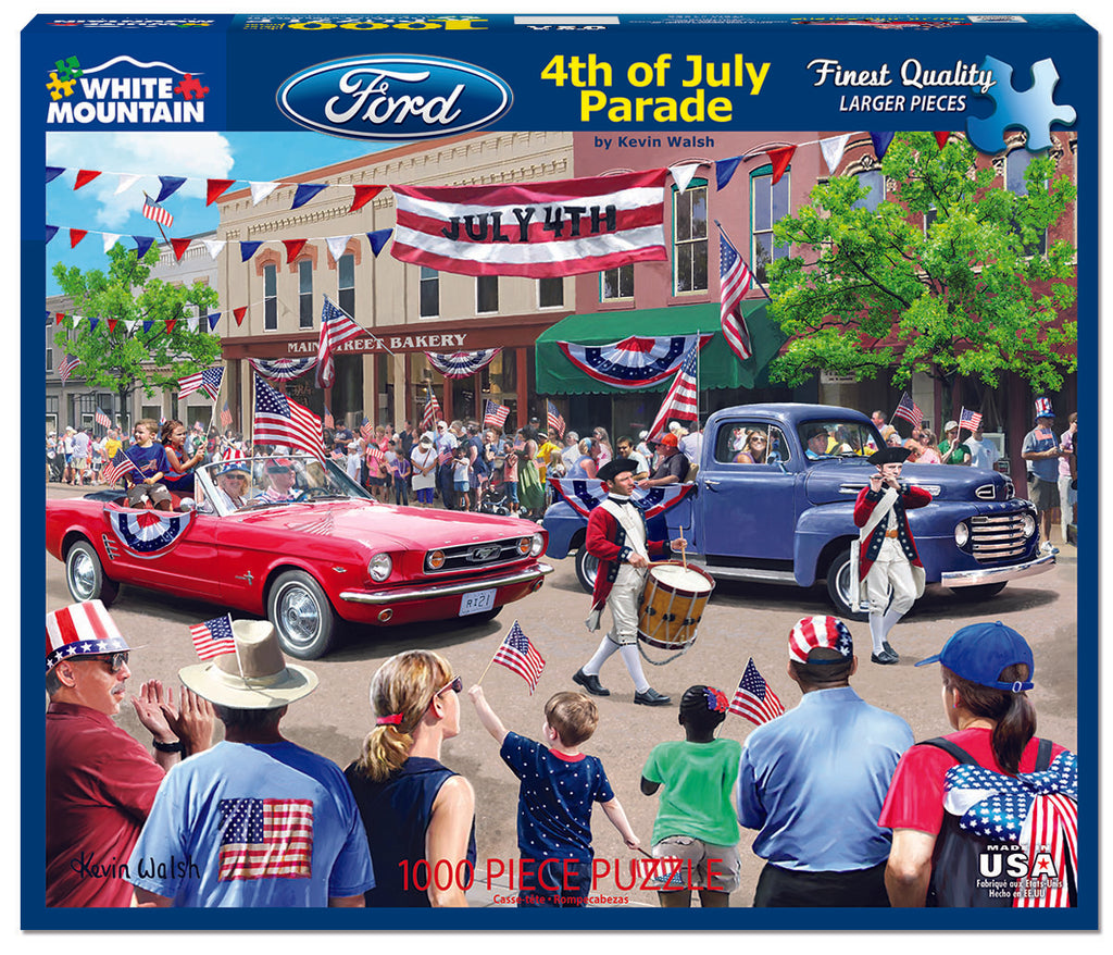 4th of July Parade (1528pz) - 1000 Piece Jigsaw Puzzle
