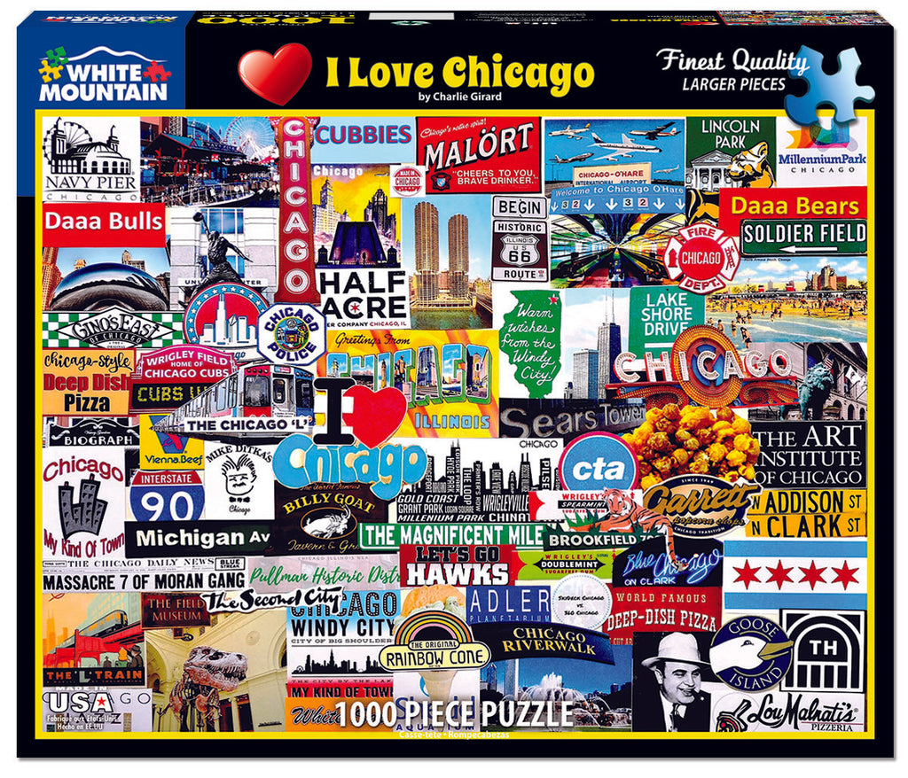 I Love Chicago (1529pz) - 1000 Piece Jigsaw Puzzle