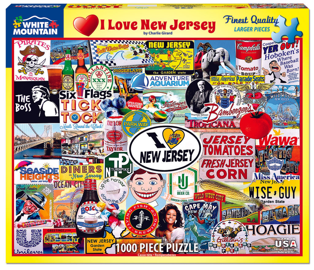 I Love New Jersey (1535pz) - 1000 Piece Jigsaw Puzzle
