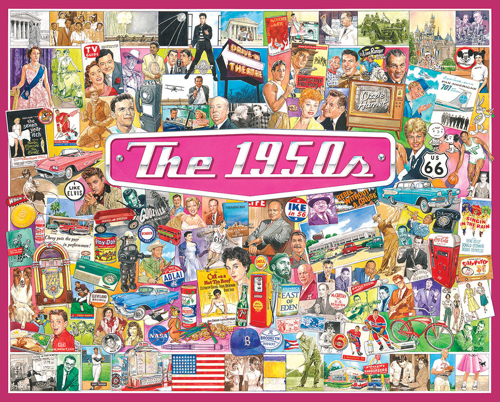 The 1950's (1536pz) - 1000 Piece Jigsaw Puzzle