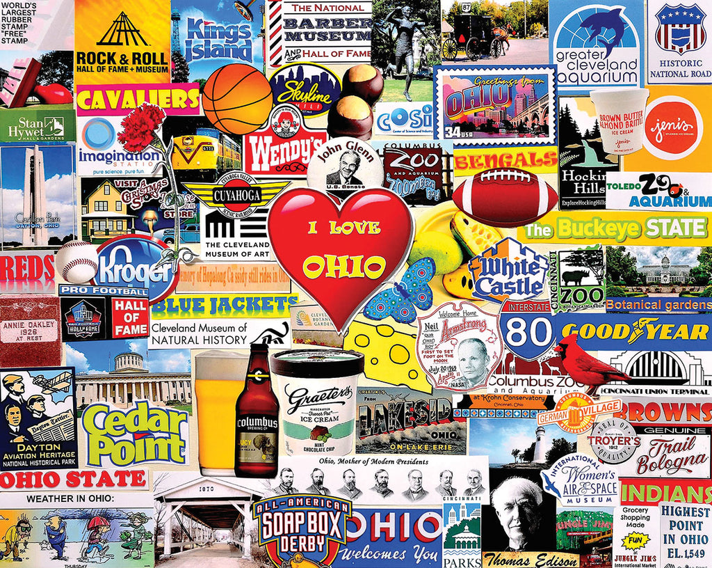 I Love Ohio (1544pz) - 1000 Piece Jigsaw Puzzle