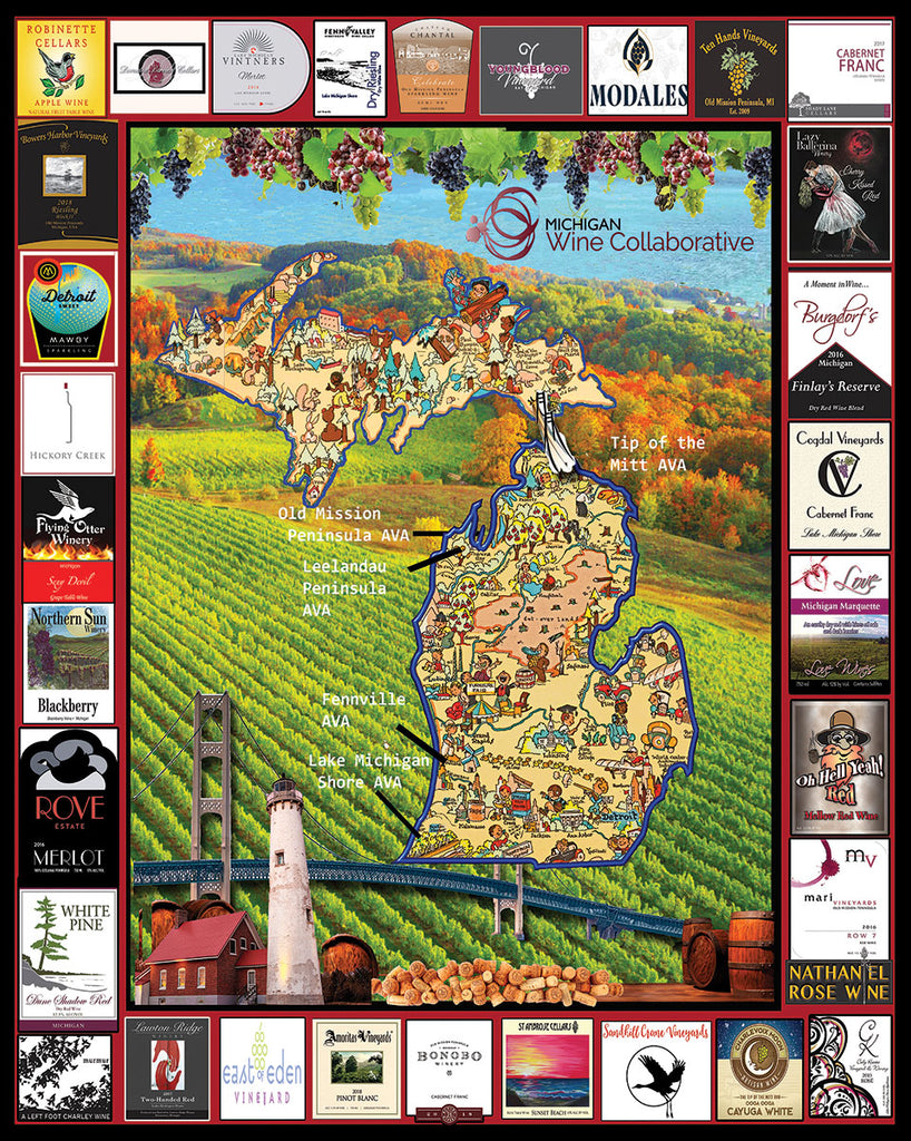 Michigan Wine (1547pz) - 1000 Piece Jigsaw Puzzle