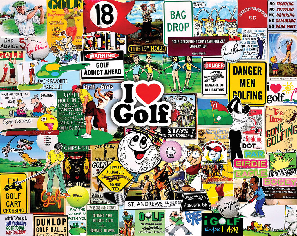 I Love Golf (1548pz) - 1000 Piece Jigsaw Puzzle