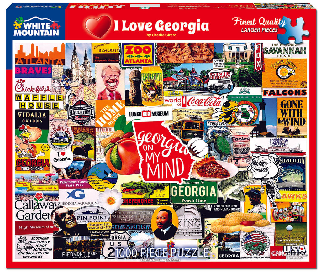 I Love Georgia (1553pz) - 1000 Piece Jigsaw Puzzle