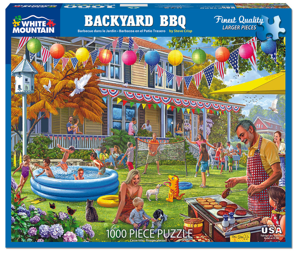 Backyard BBQ (1554pz) - 1000 Piece Jigsaw Puzzle