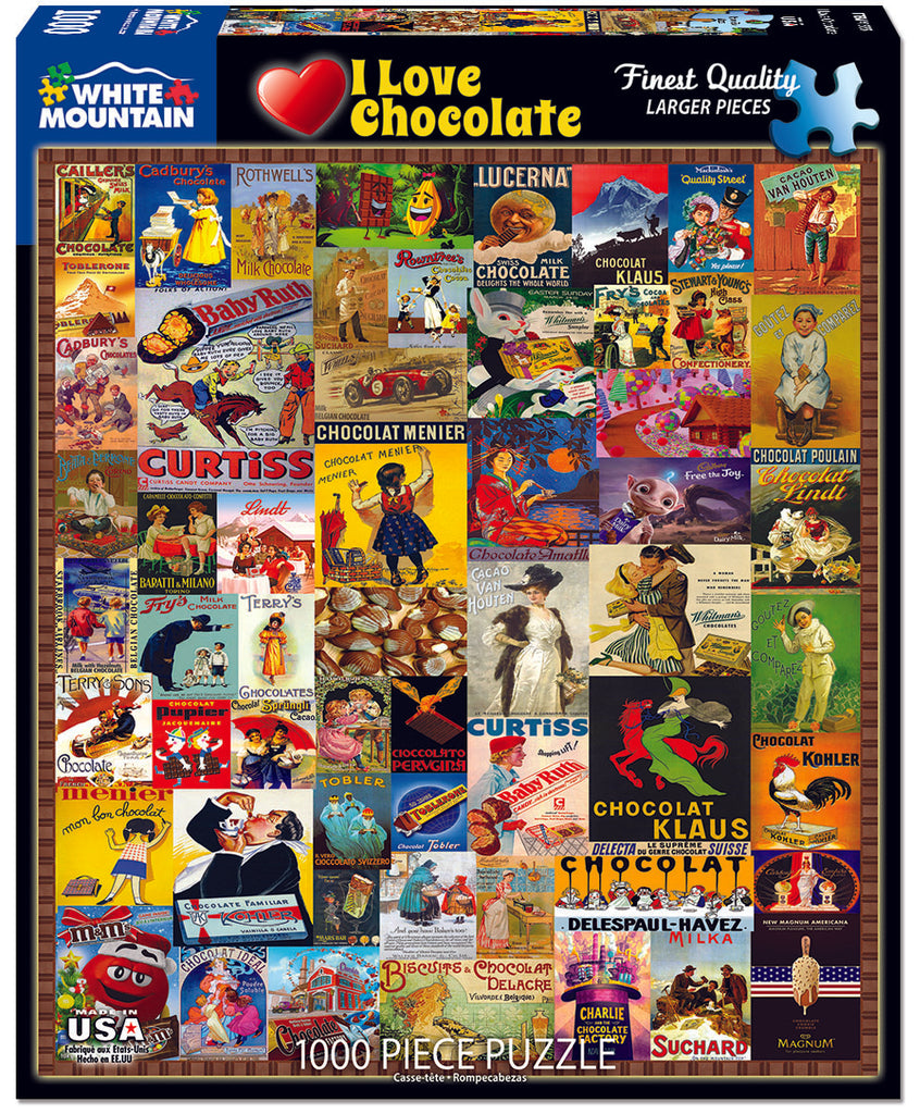 I Love Chocolate (1555pz) - 1000 Piece Jigsaw Puzzle