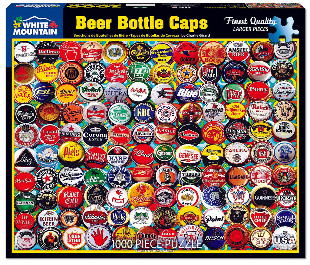 Beer Bottle Caps (1556pz) - 1000 Piece Jigsaw Puzzle