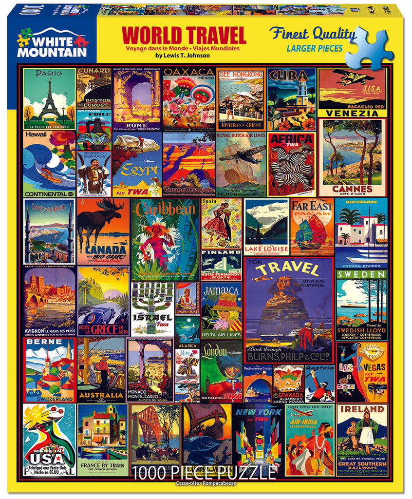 World Travel (1557pz) - 1000 Piece Jigsaw Puzzle