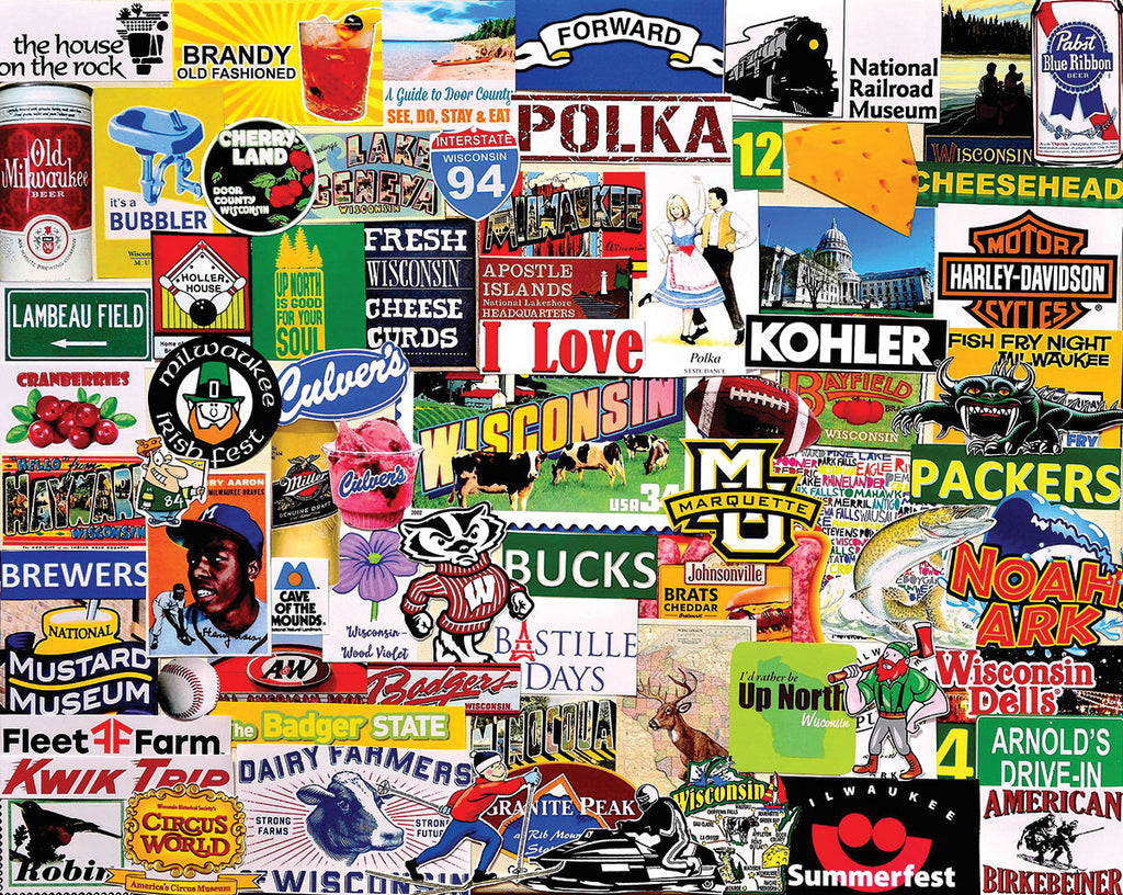 I Love Wisconsin (1562pz) - 1000 Piece Jigsaw Puzzle