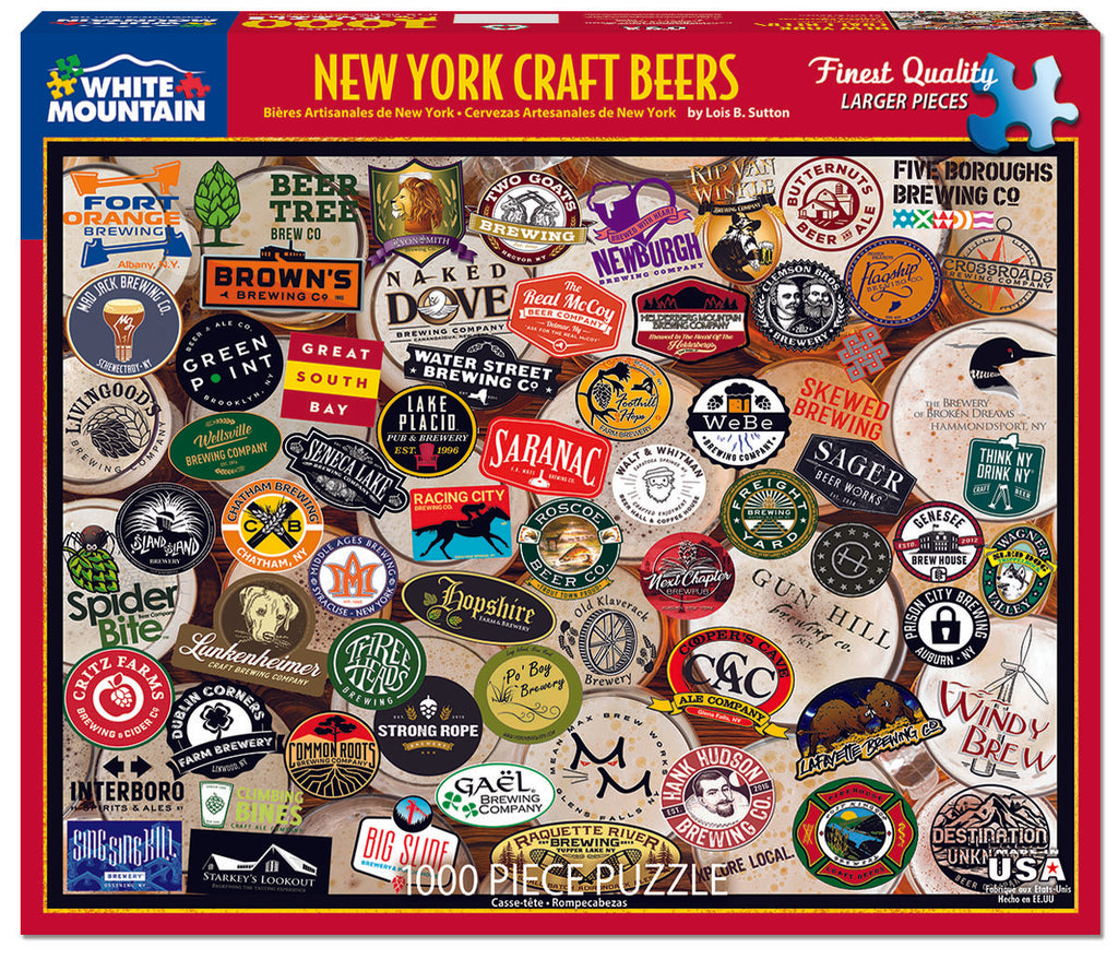 NY Craft Beers (1568pz) - 1000 Piece Jigsaw Puzzle