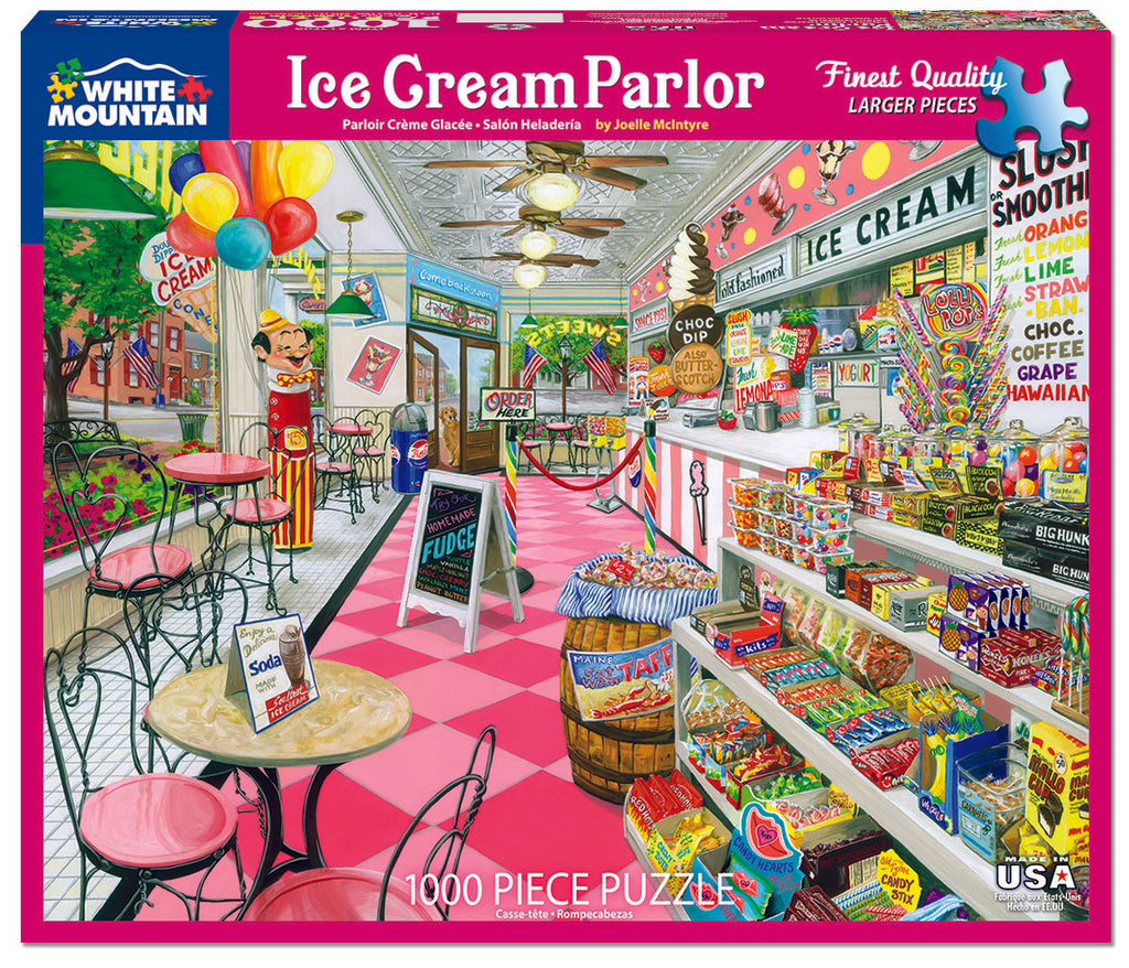 Ice Cream Parlor (1576pz)- 1000 Piece Jigsaw Puzzle