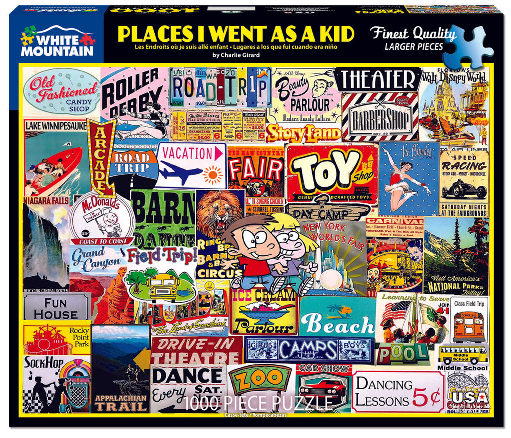 Places I Went As A Kid (1577pz) - 1000 Pieces