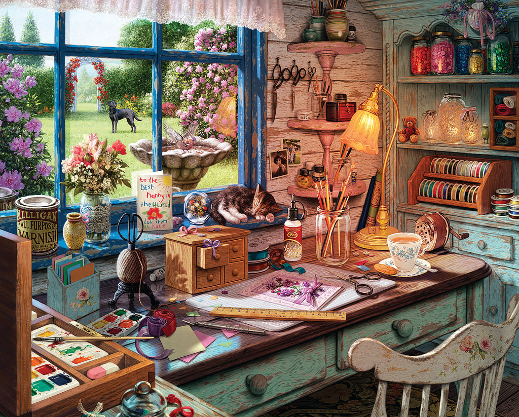 Mom's Craft Room (1582pz) - 1000 Piece Jigsaw Puzzle