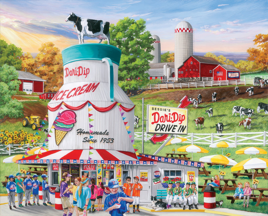 Dairy Bar (1587pz) - 1000 Piece Jigsaw Puzzle