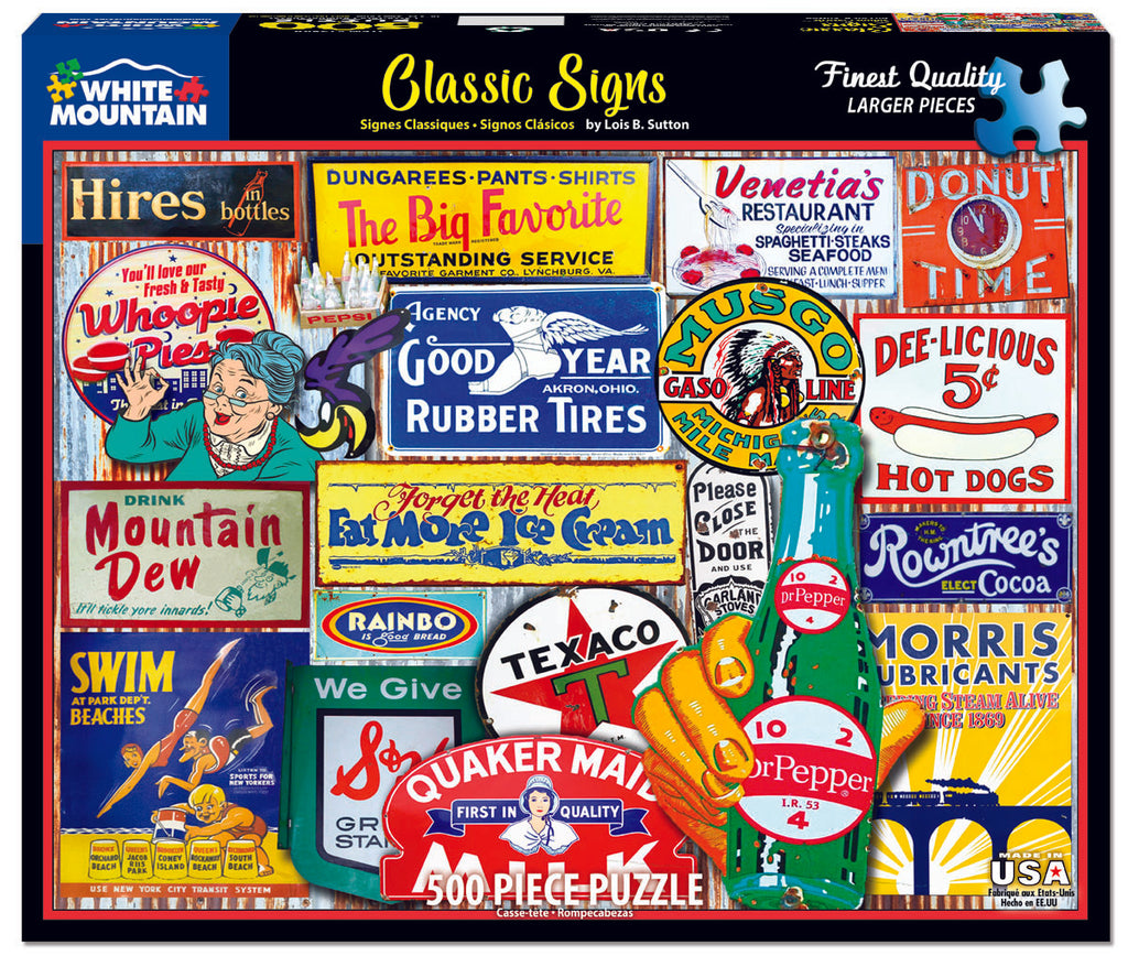 Classic Signs (1589pz) - 500 Piece Jigsaw Puzzle