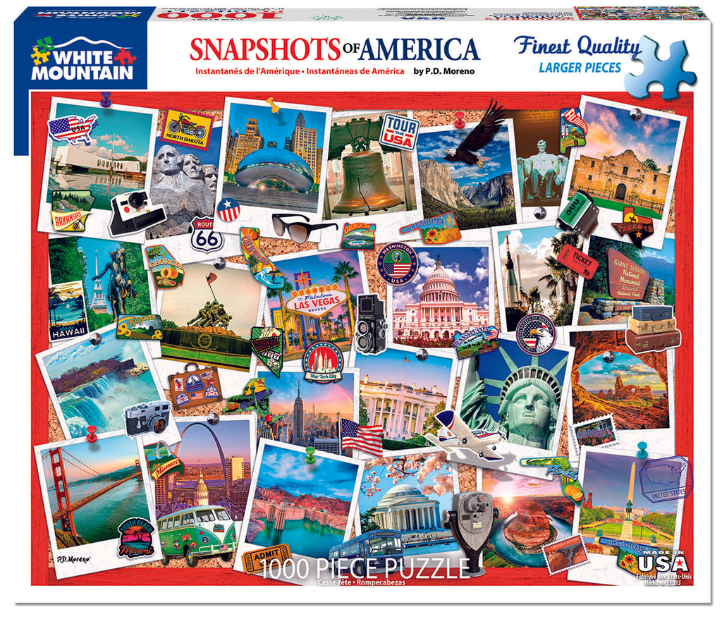 Snapshots of America (1592pz) - 1000 Piece Jigsaw Puzzle