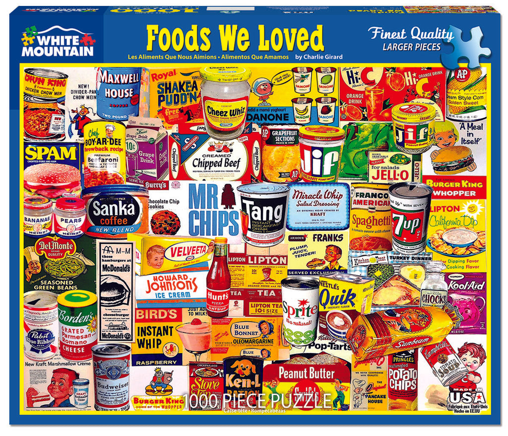 Foods We Loved (1599pz) - 1000 Piece Jigsaw Puzzle