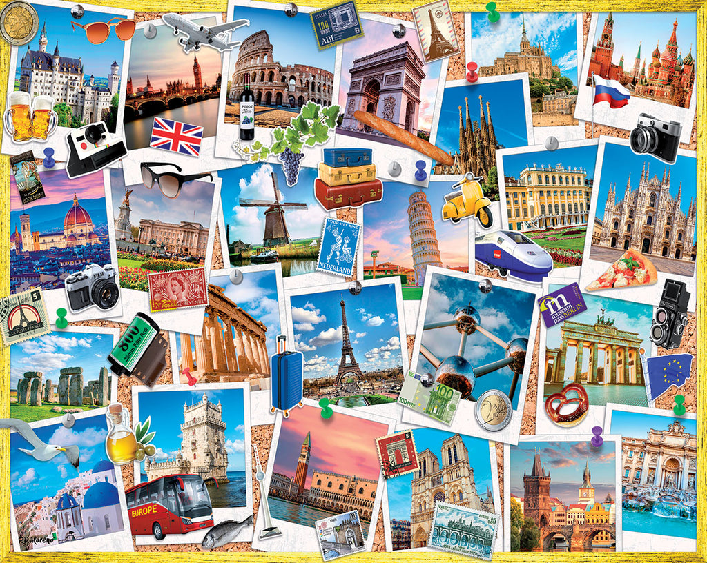 Snapshots of Europe (1601pz) - 1000 Piece Jigsaw Puzzle