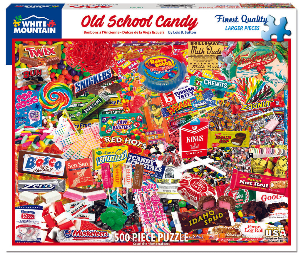 Old School Candy (1605pz) - 500 Piece Jigsaw Puzzle