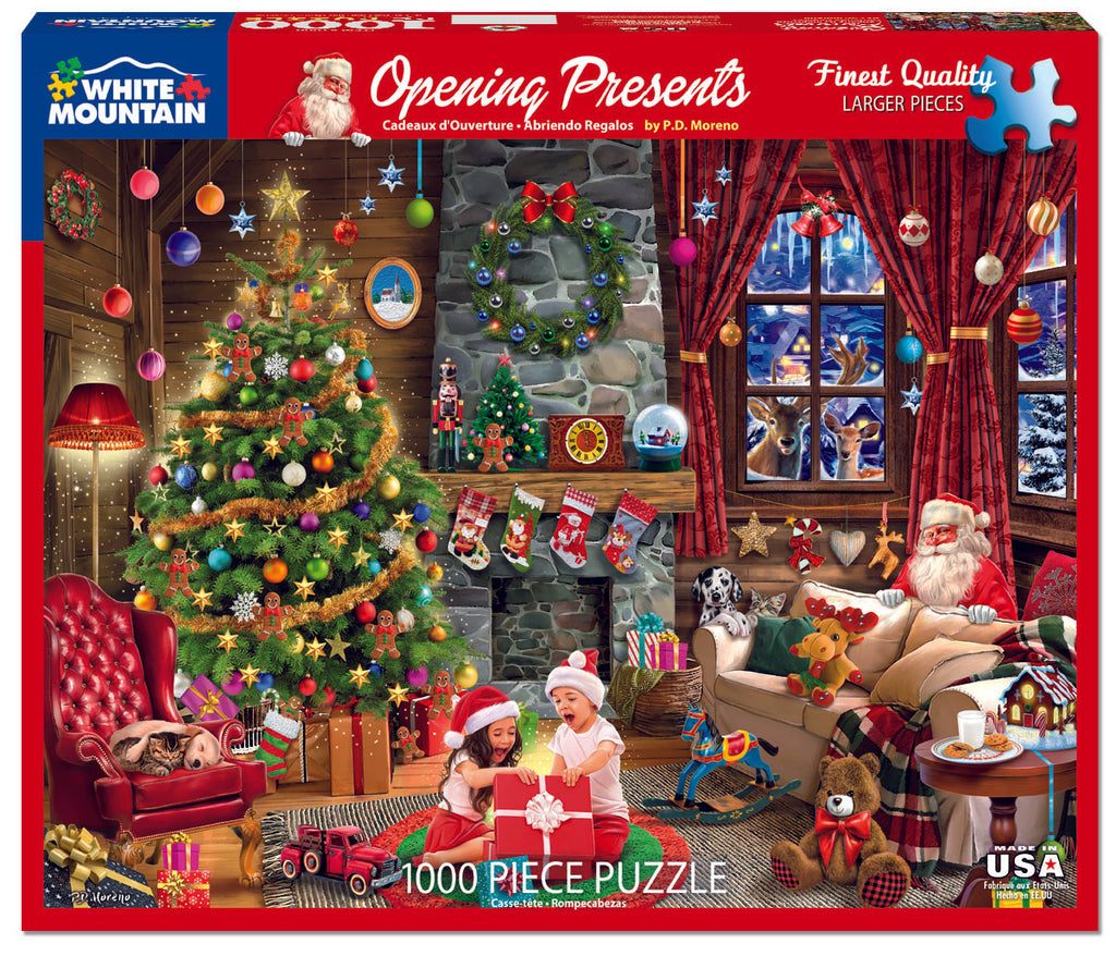 Opening Presents (1606pz) - 1000 Piece Jigsaw Puzzle