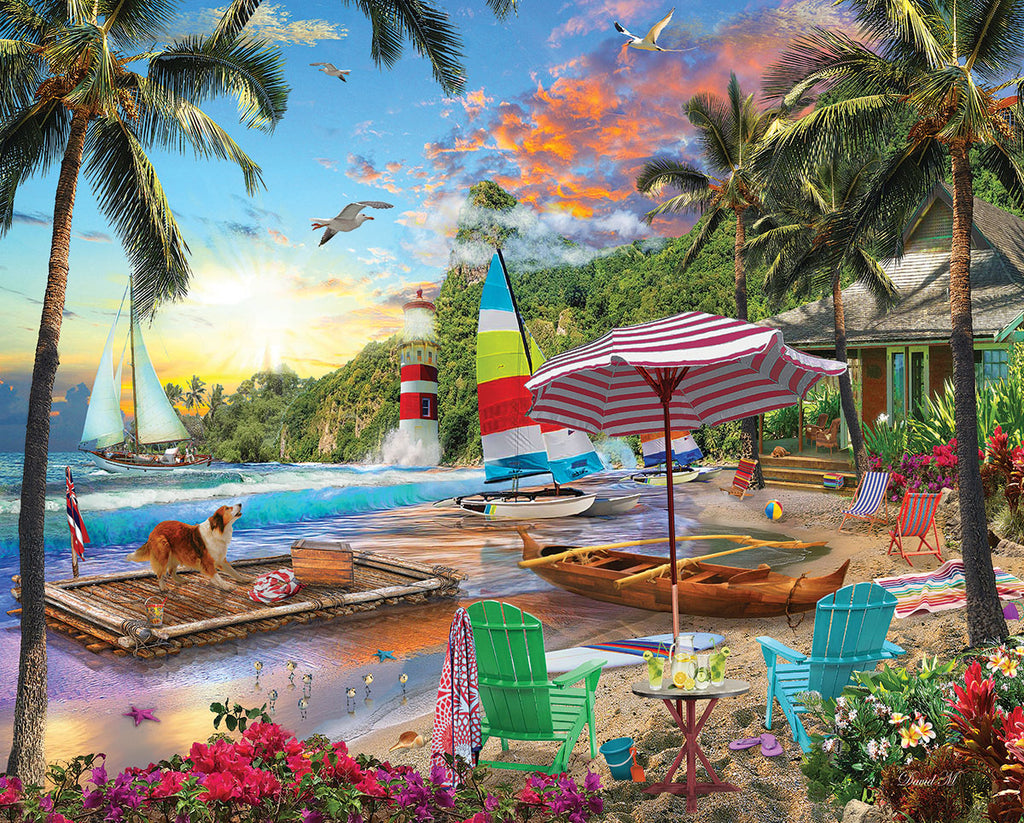 Beach Holiday (1609pz) - 550 Piece Jigsaw Puzzle