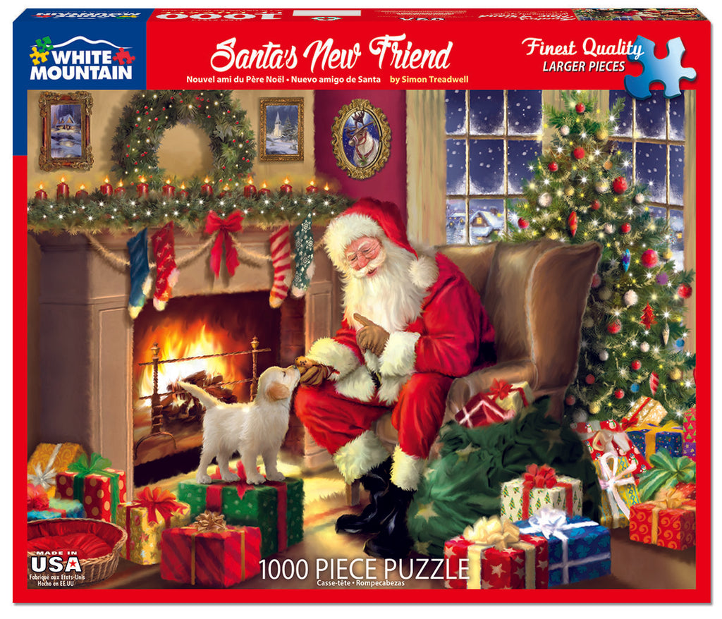 Santa's New Friend (1617pz) - 1000 Piece Jigsaw Puzzle