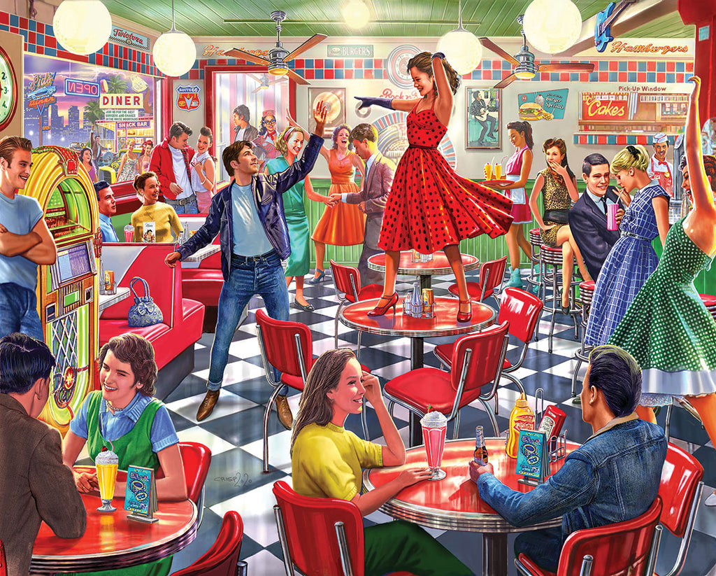 Dancing At The Diner (1622pz) - 1000 Piece Jigsaw Puzzle