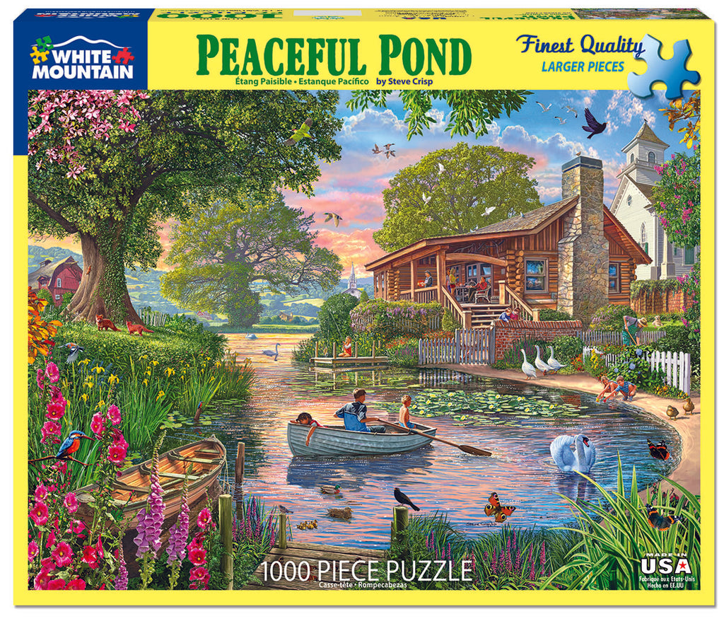 Peaceful Pond (1623pz) - 1000 Piece Jigsaw Puzzle