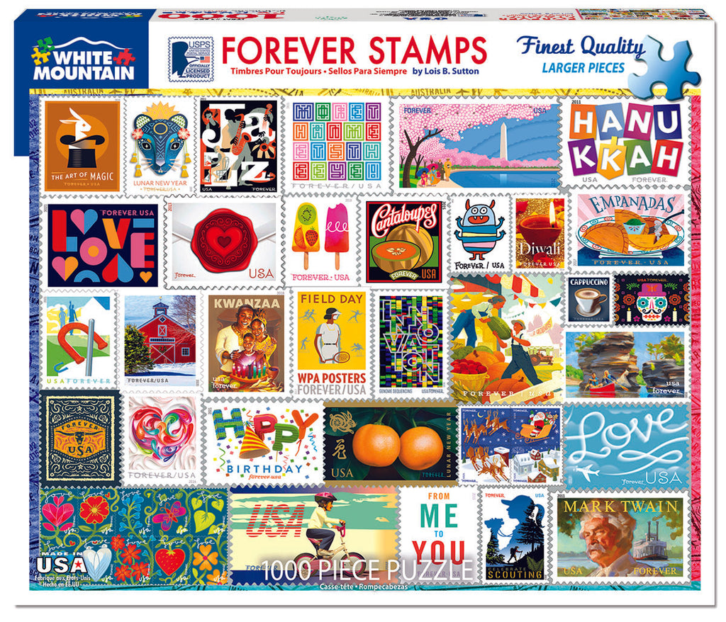 Forever Stamps (1629pz) - 1000 Piece Jigsaw Puzzle