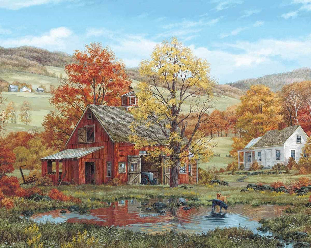Friends in Autumn (189PZ) - 1000 Piece Jigsaw Puzzle