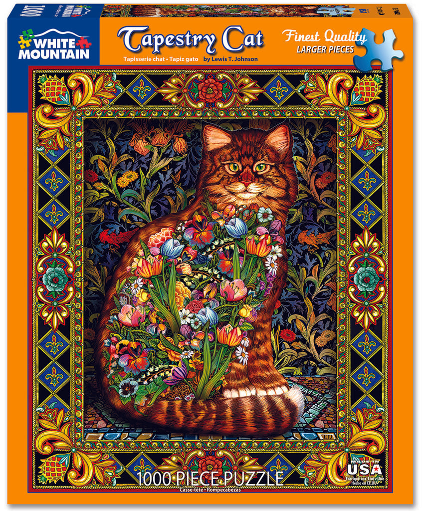 Tapestry Cat (402PZ) - 1000 Piece Jigsaw Puzzle