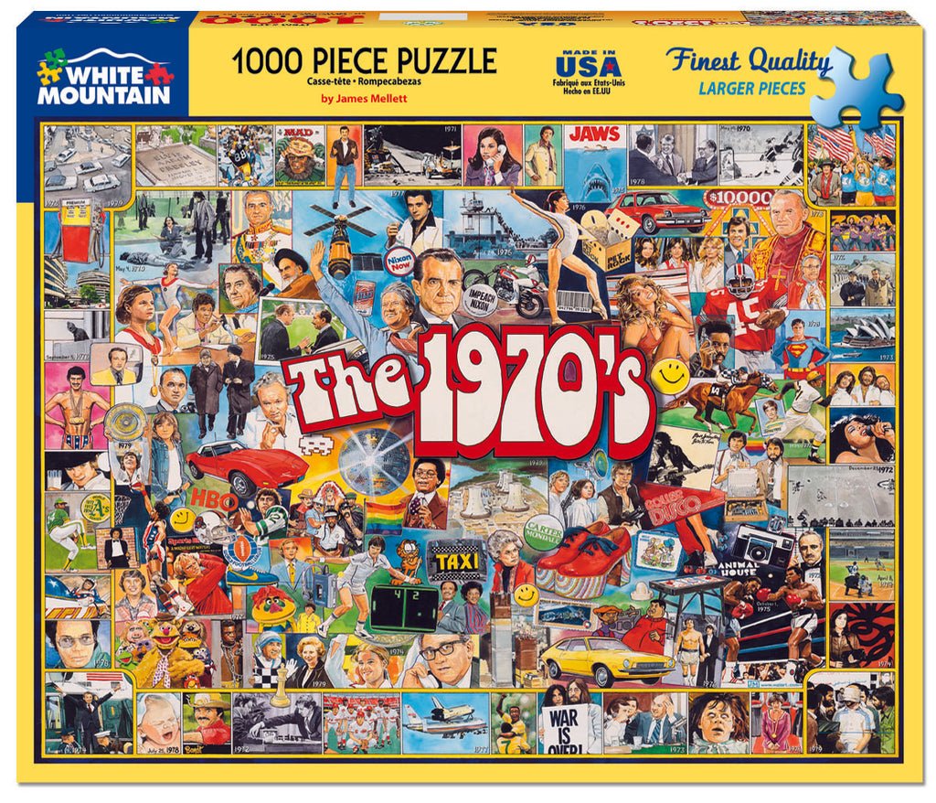 The 1970's (478PZ) - 1000 Piece Jigsaw Puzzle for Adults