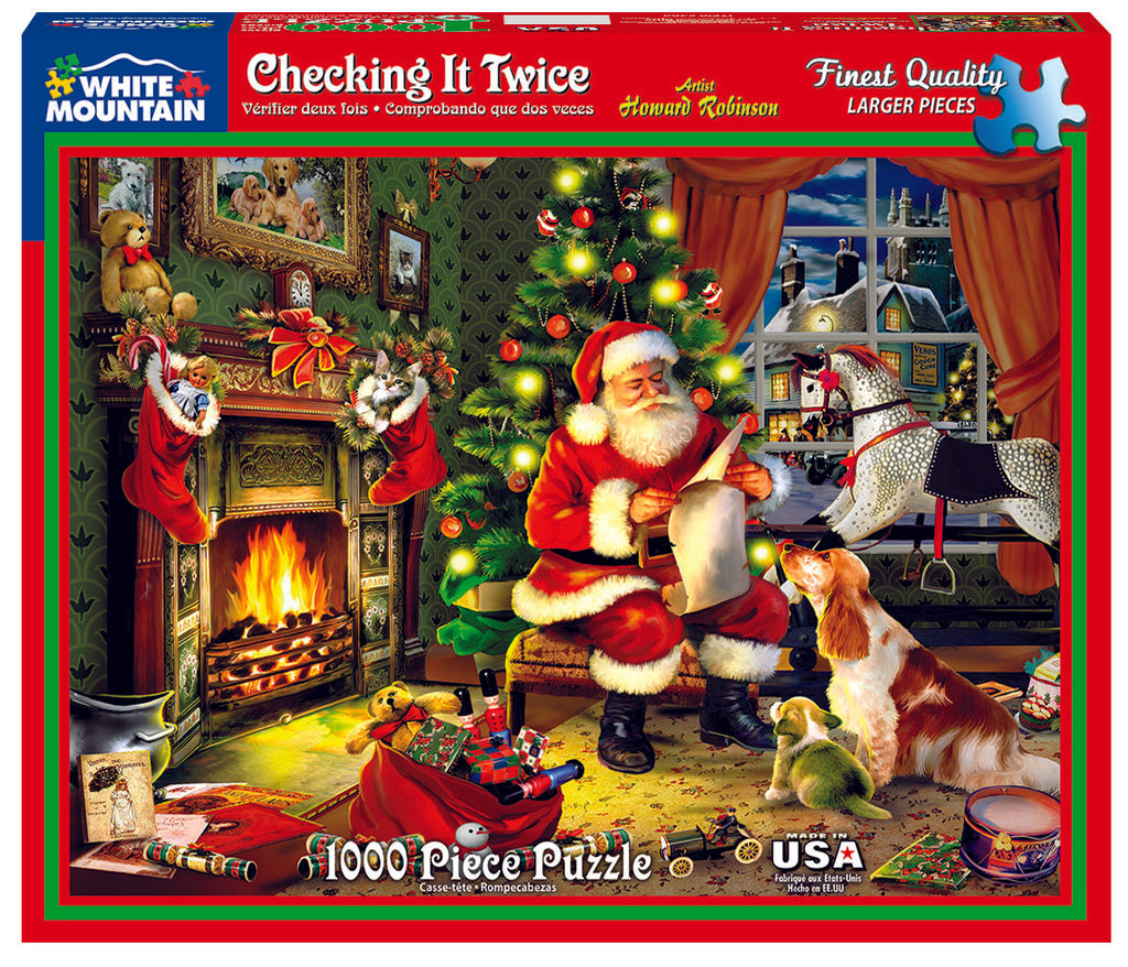 Checking It  Twice (486PZ) - 1000 Piece Jigsaw Puzzle
