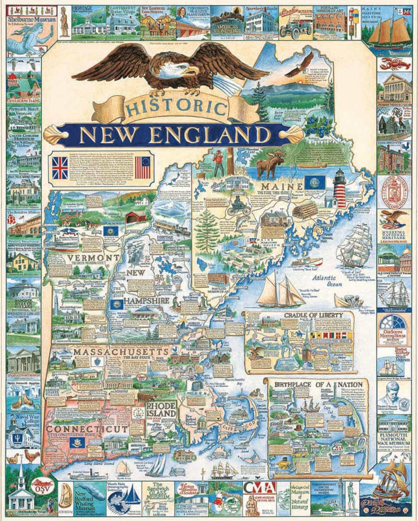 Historic New England  (52PZ) -1000 Piece Jigsaw Puzzle