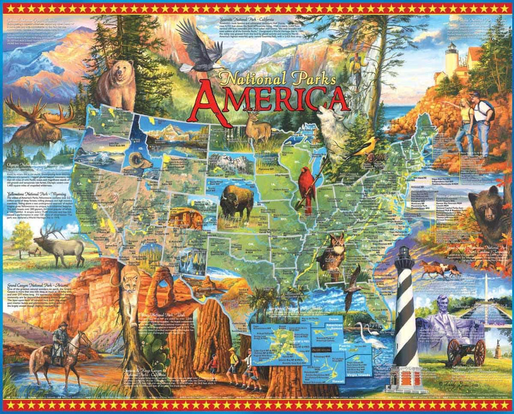 National Parks (530PZ) - 1000 Piece Jigsaw Puzzle