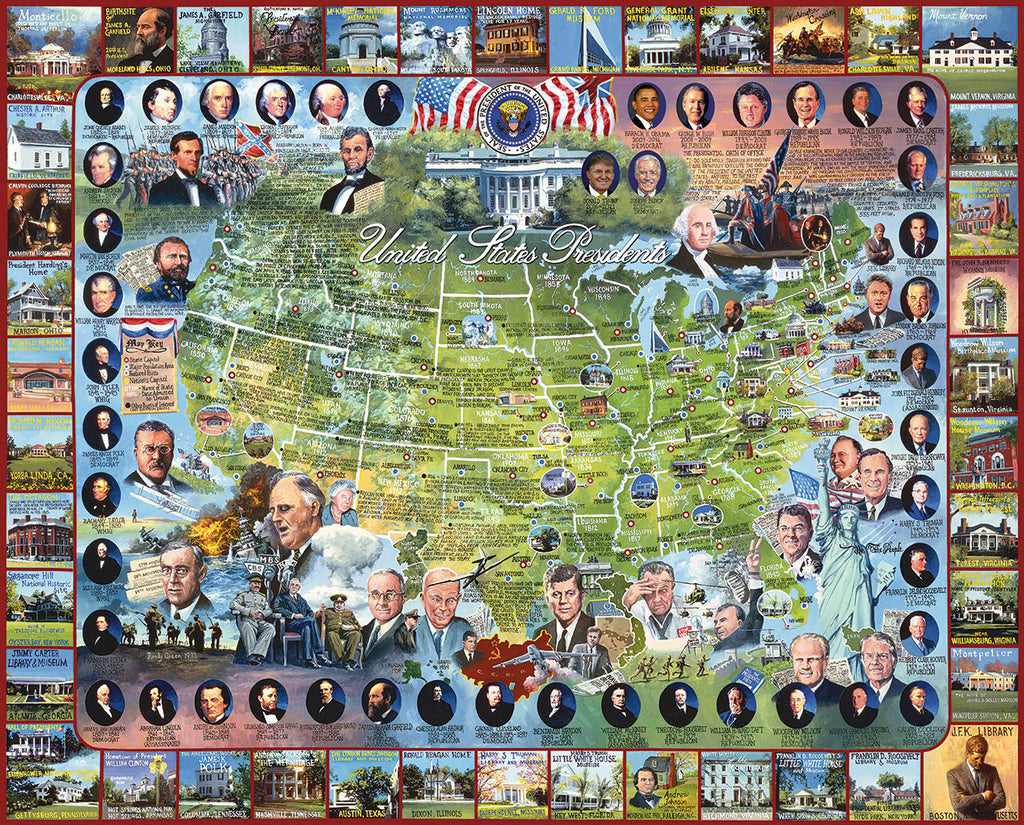 United States Presidents (549PZ) - 1000  Piece Jigsaw Puzzle