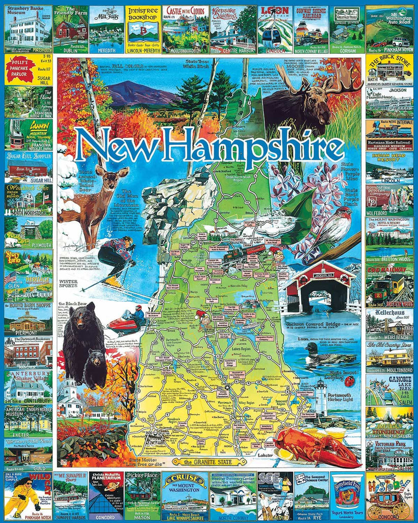 Best of New Hampshire (54PZ) - 1000 Piece Jigsaw Puzzle