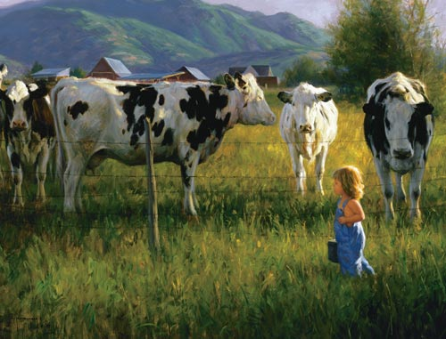 Anniken and the Cows (739pz) - 1000 Piece Jigsaw Puzzle