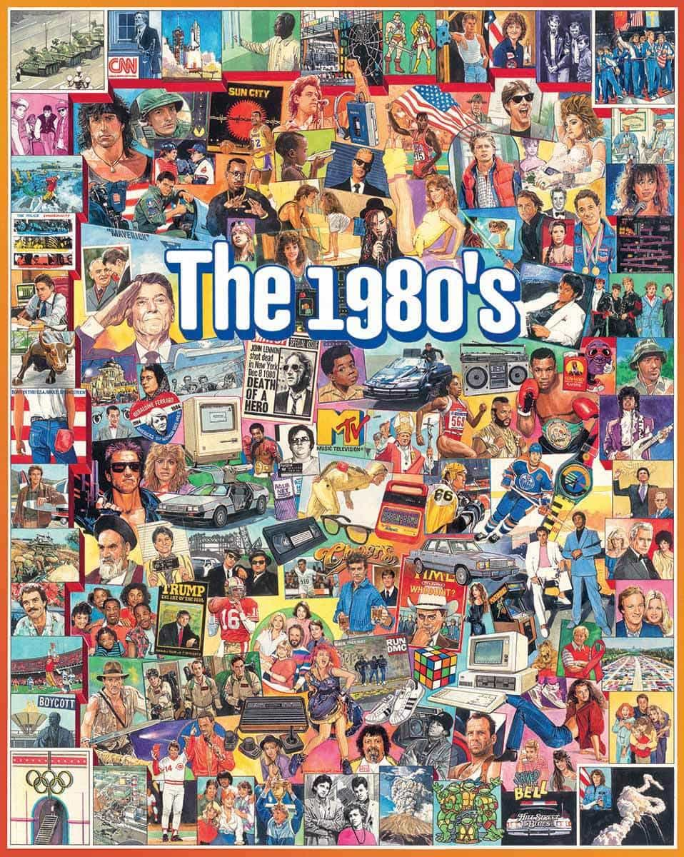 Jigsaw puzzle Americana 1980s The Eighties 1000 piece NEW Made in USA