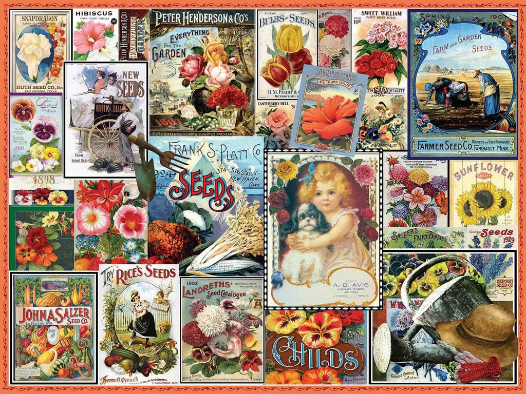 Vintage Flower Seeds - 550 Pieces
