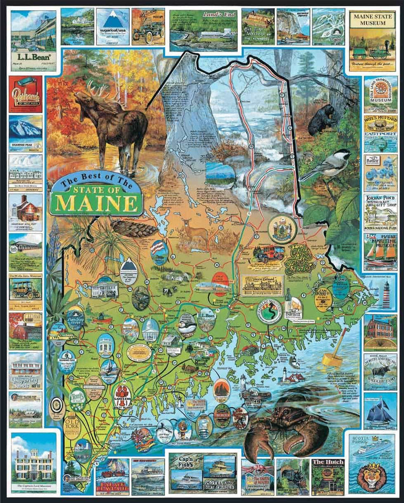 Best of Maine (94PZ) - 1000 Piece Jigsaw Puzzle