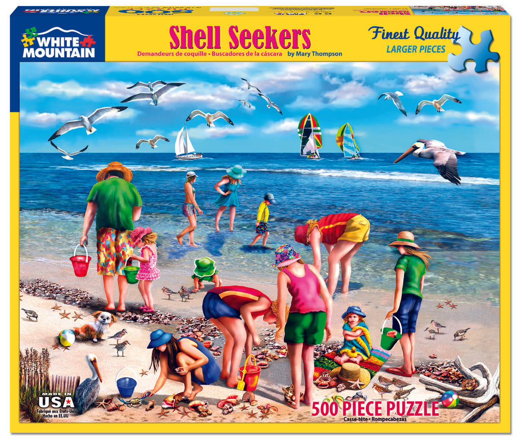 Shell Seekers (965PZ) - 550 Piece Jigsaw Puzzle