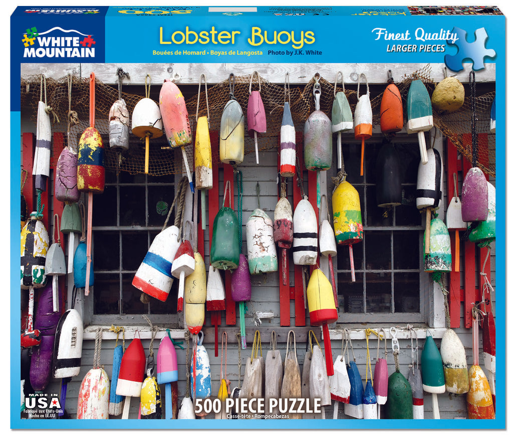 Lobster Buoys (966PZ) - 550 Piece Jigsaw Puzzle