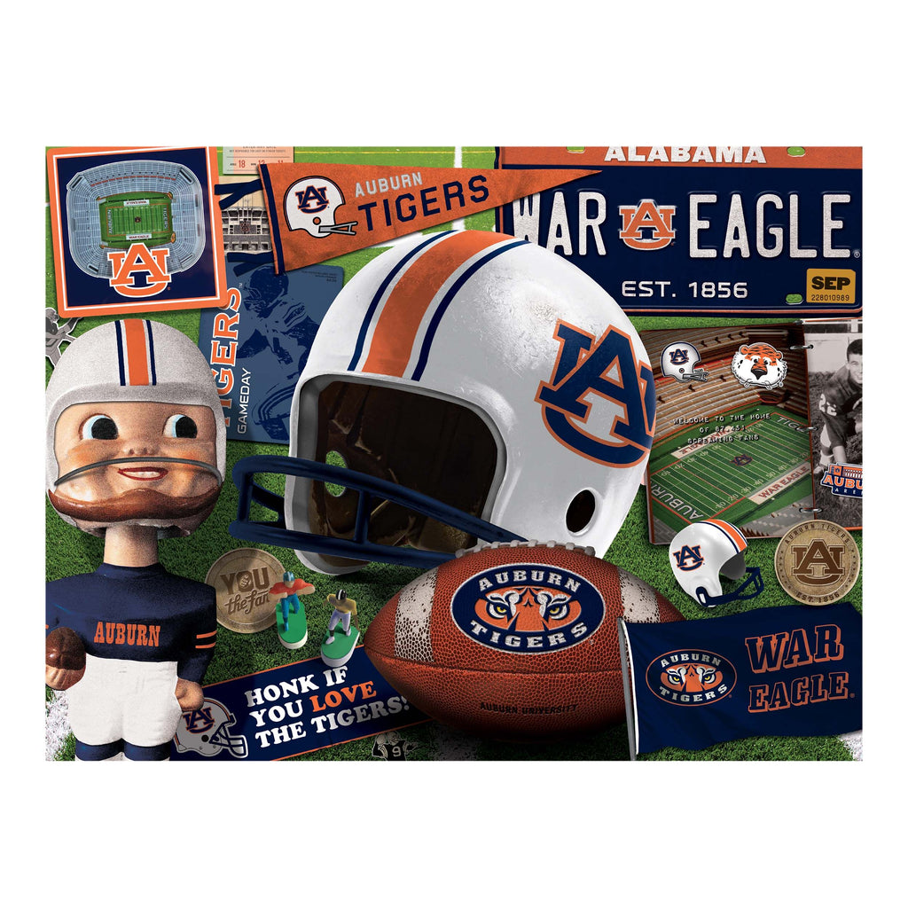 Auburn Tigers Retro Series (950240) - 500 Piece Jigsaw Puzzle