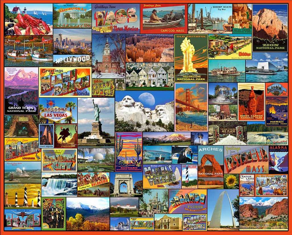 Best Places in America (1119pz) - 1000 Pieces