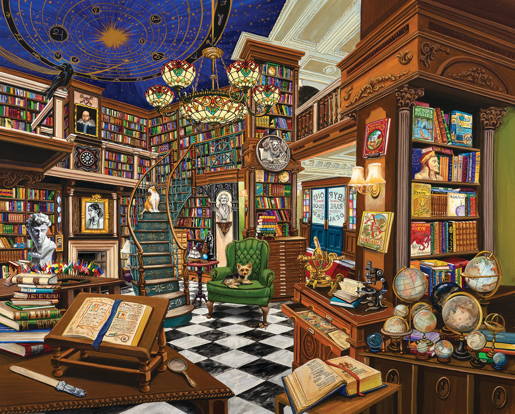 Rare Book Store (1526pz) - 1000 Piece Jigsaw Puzzle